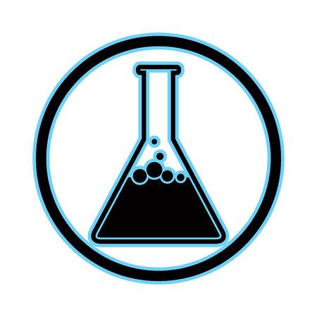 simplistic icon: Chemical flask simplistic vector icon.