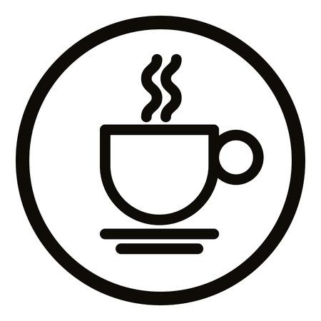 tazas de cafe: Icono de la taza de café simplista, vector.