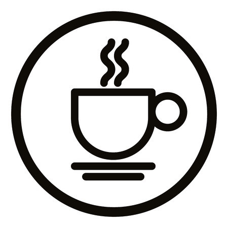 coffee cup: Simplistic coffee cup icon, vector.