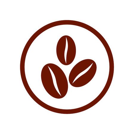 コーヒー豆のシンボル。  イラスト・ベクター素材