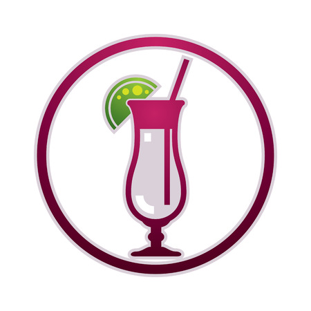 drinking straw: Cocktail vector icon. Simplistic sign Illustration