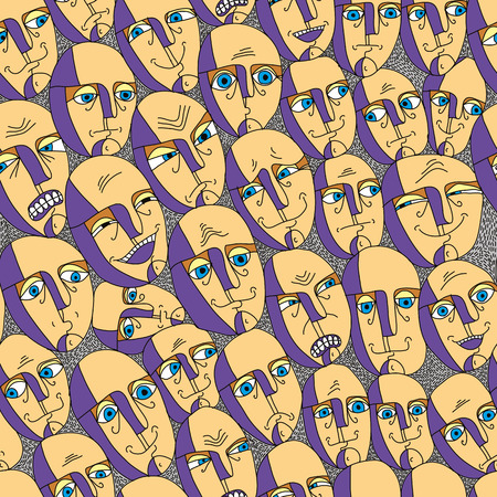 emotions faces: Emotion steht nahtlose Hintergrund, Vektor-Illustration.