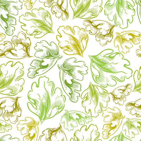 secession: Vintage style seamless background with leaves, perfect vector wallpaper or web background pattern.