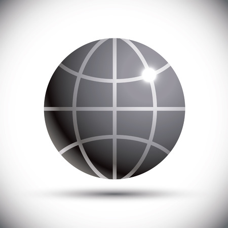 pictogramme: Earth Globe - Vector illustration isolated.