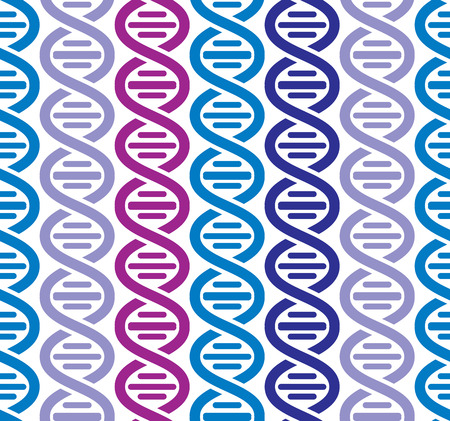 Dna seamless pattern, science vector background. Vector