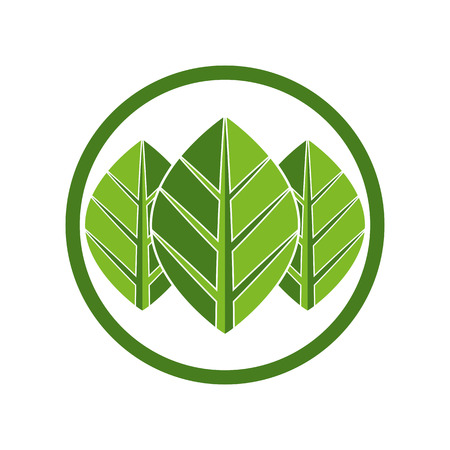 pictogramme: Leaves eco simplistic icon, vector.