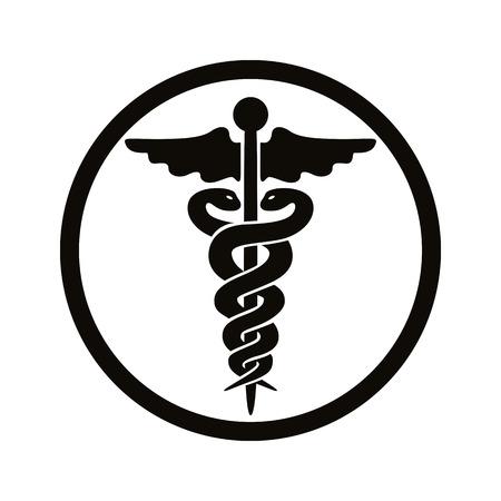 emblem for drugstore or medicine: Caduceus medical symbol.