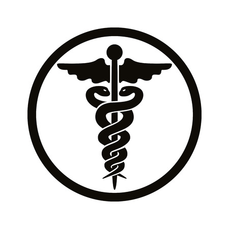 Caduceus medische symbool. Stock Illustratie