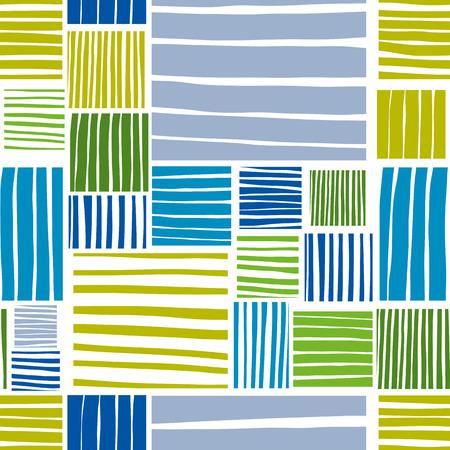 patched: Patched lines seamless pattern, vector background.
