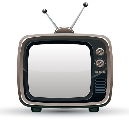 tv retro: Retro TV set, vector illustration.