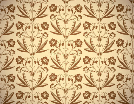 secession: Vintage floral style seamless background, beautiful vector wallpaper or web background pattern.