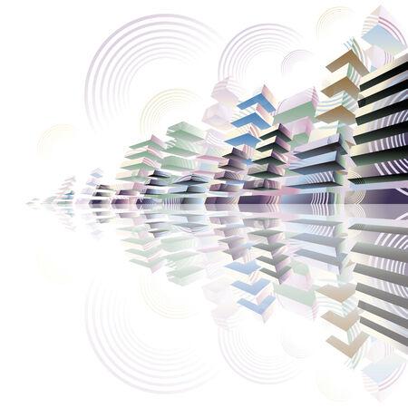 Futuristic cityscape, 3D vector illustration. Vector