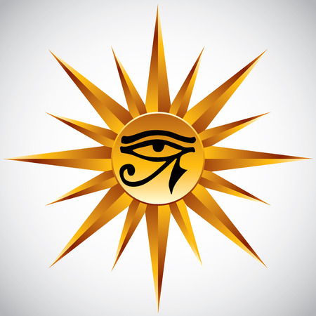 round eyes: The eye of Ra vector symbol. Illustration