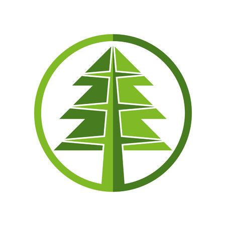 simplistic icon: Christmas tree simplistic icon, vector.