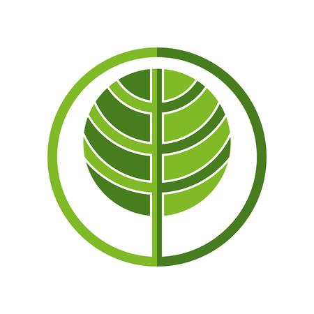 pictogramme: Tree icon, simplistic geometric 2 color vector design.
