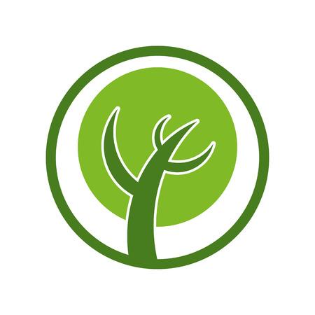 simplistic icon: Simplistic tree icon.