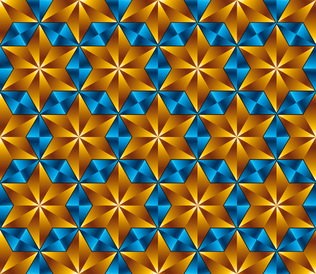 six point: Six point stars tiles seamless pattern, vector background.