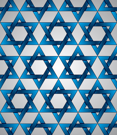 Star of David seamless pattern, vector background. Vector