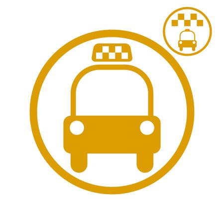 picto: Taxi car icon, vector.