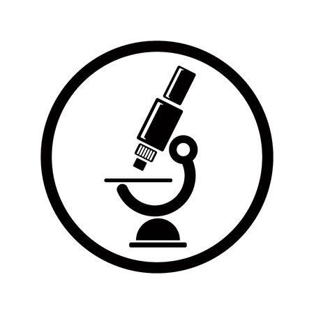 microscope lens: Vector microscope icon.