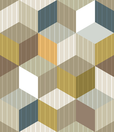 Cubes seamless pattern, vector background eps 10. Vector
