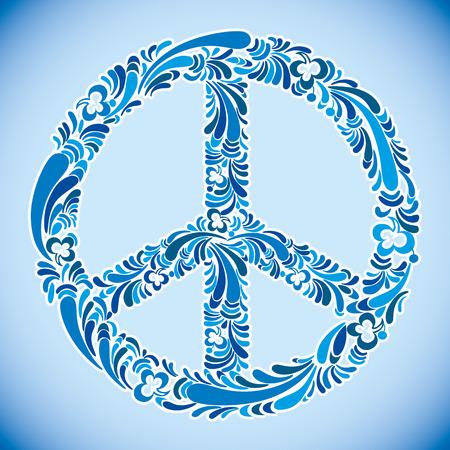 Peace sign vector illustration. Vetores
