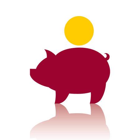 Piggy bank money, vector icon.