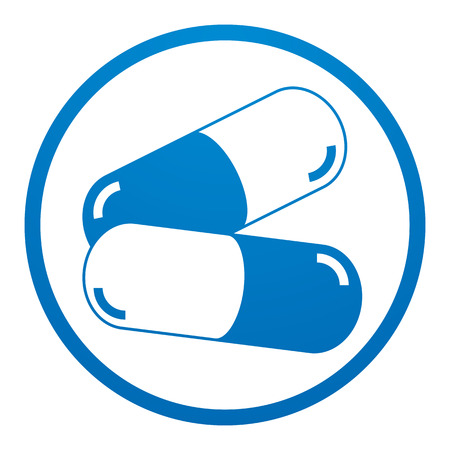 drugs pills: Medicine pills icon, vector.