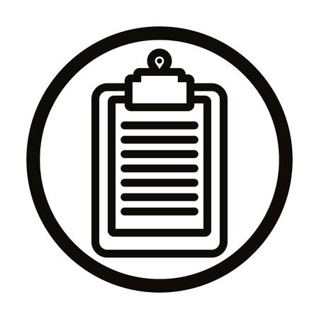 Clipboard vector simple icon. Vector
