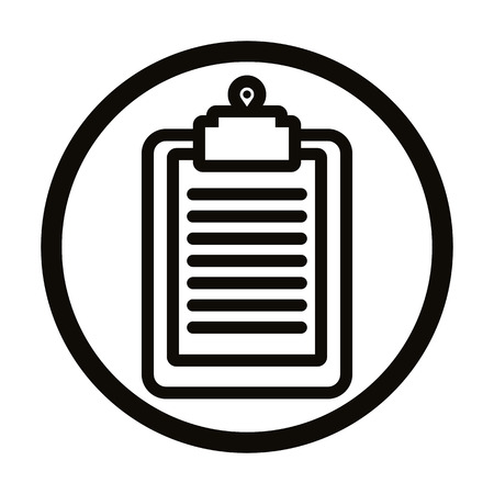 pictogramme: Clipboard vector simple icon.