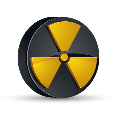 Radiation 3d vector icon.