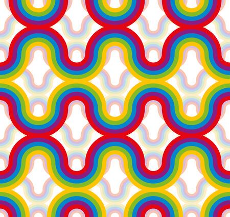 Rainbow seamless pattern, vector background. Vector