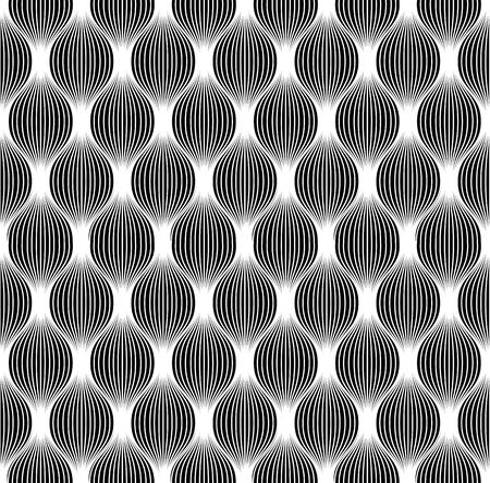 Seamless abstract background, black and white seamless pattern, vector. Vector