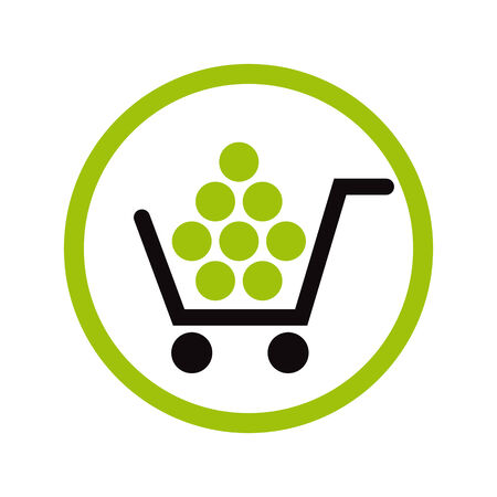 product cart: Shopping vector icon.