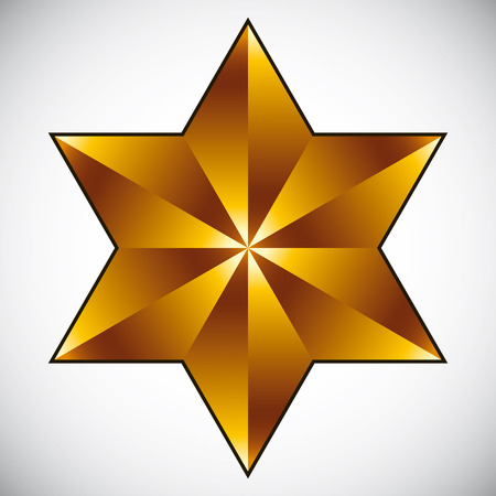 pictogramme: Six point star isolated.