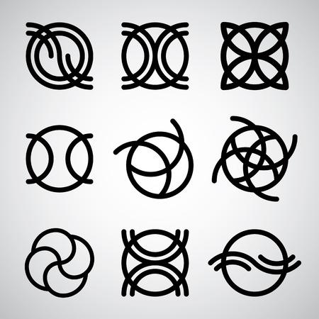 icone tonde: Astratto icone rotonde vector set.