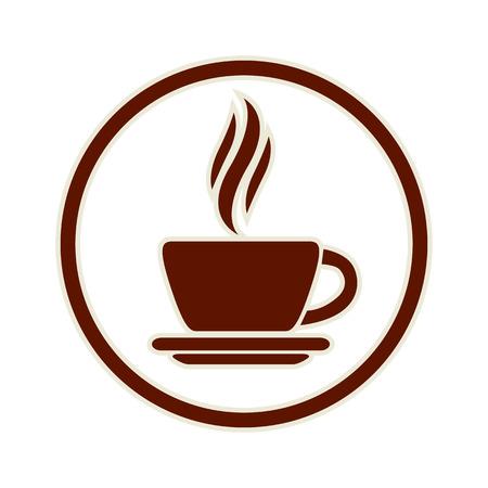 taza: Icono de la taza de caf�, vector.