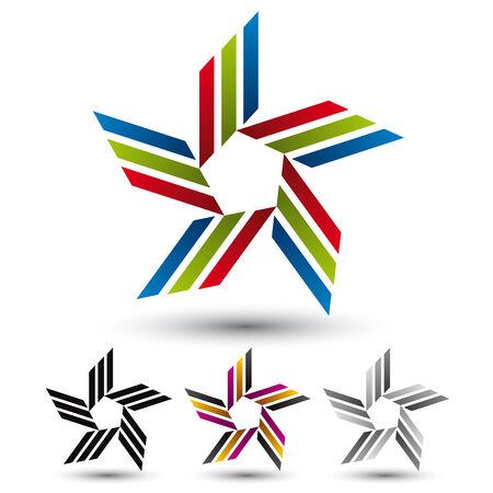 Creative star vector icon.