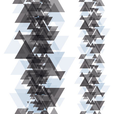 eps 8: Seamless vertical elements made with triangles, flat eps 8, easy to edit, recompose or use separately.