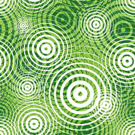 Green ripple seamless pattern, vector background. Illustration