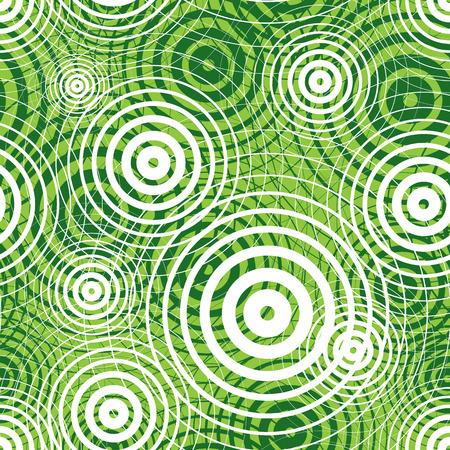 circular wave: Green ripple seamless pattern, vector background. Illustration
