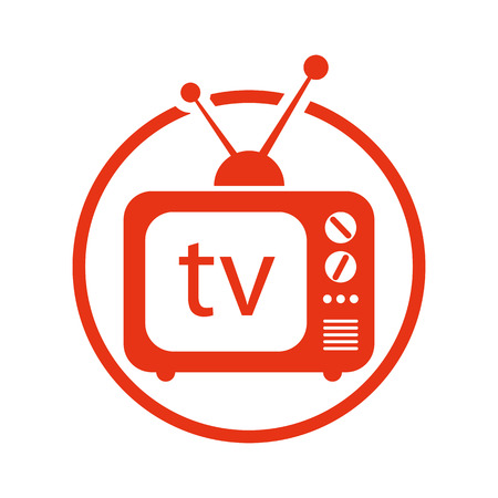 retro tv: Retro tv set vector icon. Illustration