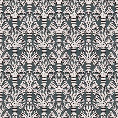 Vintage style seamless wallpaper pattern, vector background. Vector