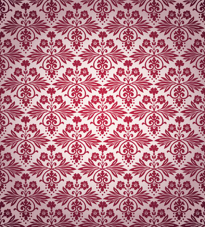 victorian wallpaper: Victorian vintage flowers seamless wallpaper pattern, vector background.