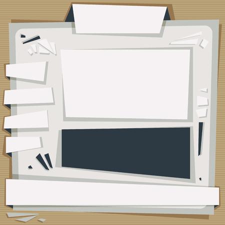 Paper website template, vector. Vector
