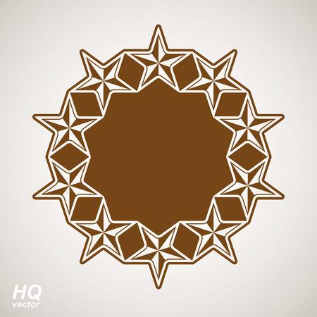 Vector union conceptual symbol. Festive design element with stars, decorative luxury template. Corporate branding icon, eps8. Vector