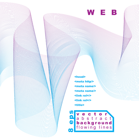 unwind: Light vector soft composition, 3d wavy decorative ribbon. Abstract sophisticated background with graphic web elements.