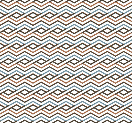 Bright abstract seamless pattern with interweave lines. Vector psychedelic wallpaper with stripes. Endless decorative background. Vector