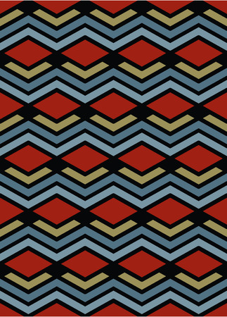 figuration: Bright abstract seamless pattern with interweave lines. Vector psychedelic wallpaper with stripes. Endless decorative background, unusual tracery. Illustration