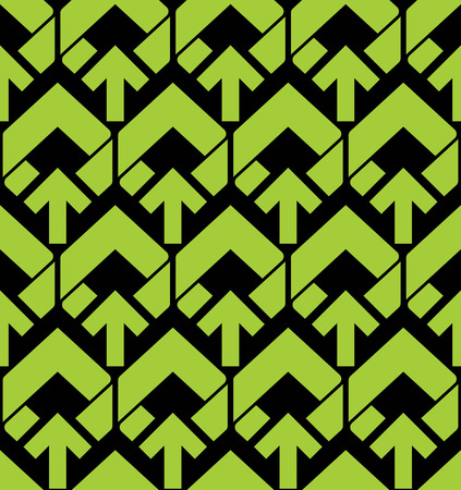 arrowheads: Bright abstract seamless pattern with green arrows. Vector wallpaper with arrowheads. Endless decorative background, best for graphic and web design.